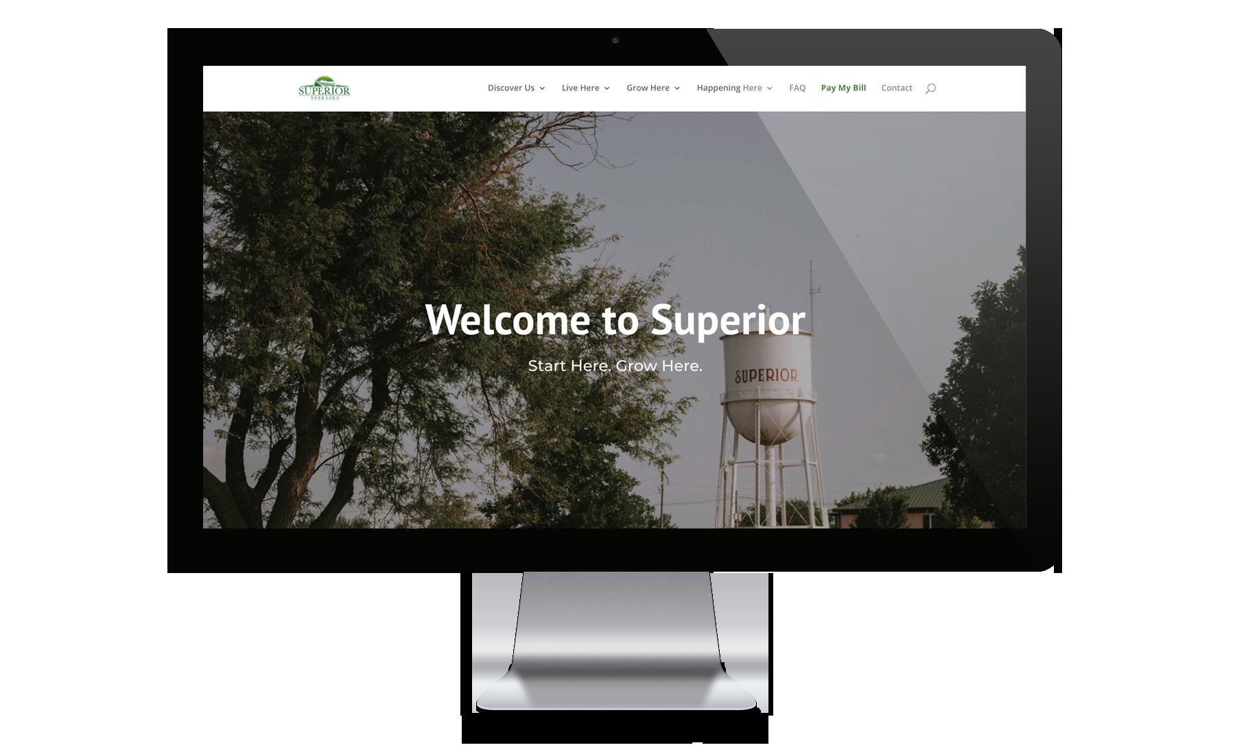 City of Superior Website Desktop
