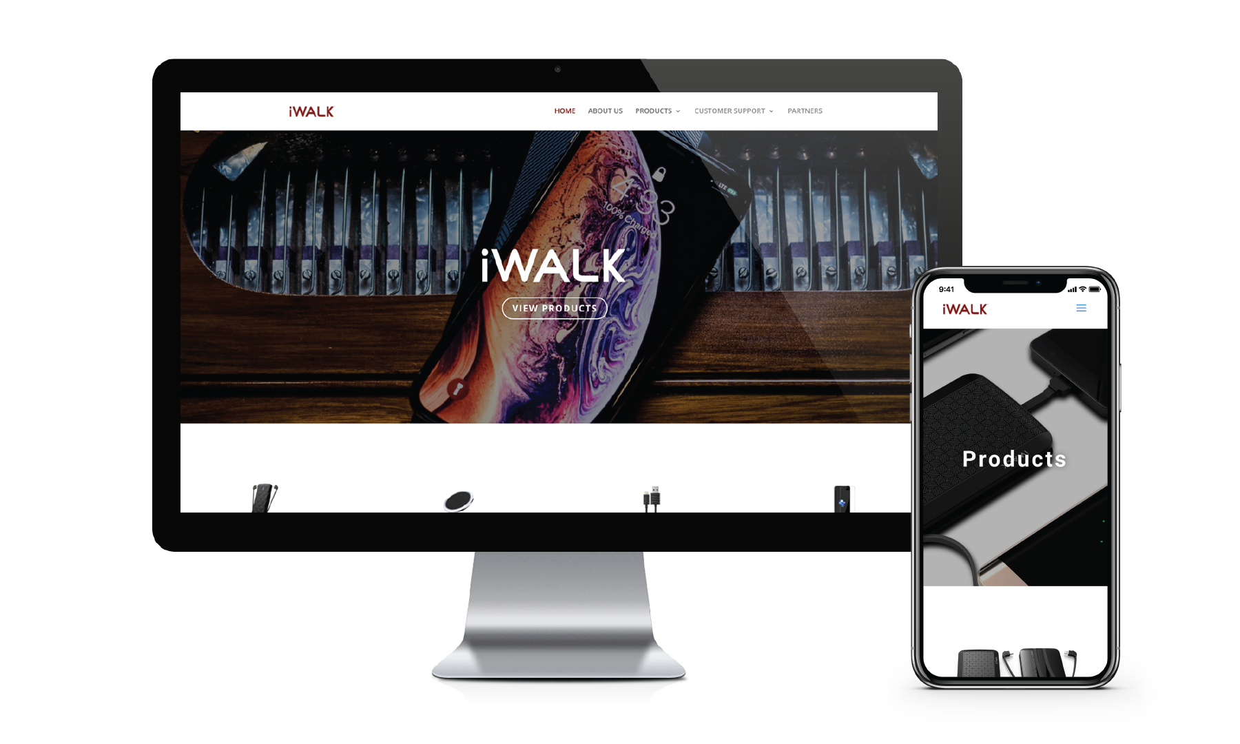 iWalk Website Screens